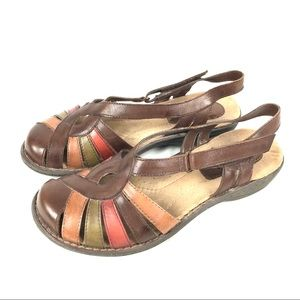 Earth Origins leather closed toe comfort sandals